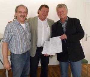 Thomas Seitz, Jan Christian Burkhardt und Ernst-Johannes Kasten